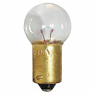 Trade Number 503, 0.8 Watts Miniature Incandescent Bulb, G4-1/2, Miniature Bayonet (BA9s)
