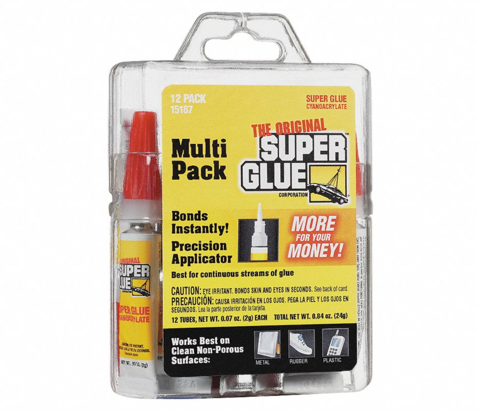 Super glue adhesivo instantaneo 2gr 10 30seg pq12 for Super glue precio