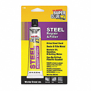 Steel Repair Cement,1 Oz Tube,Gray