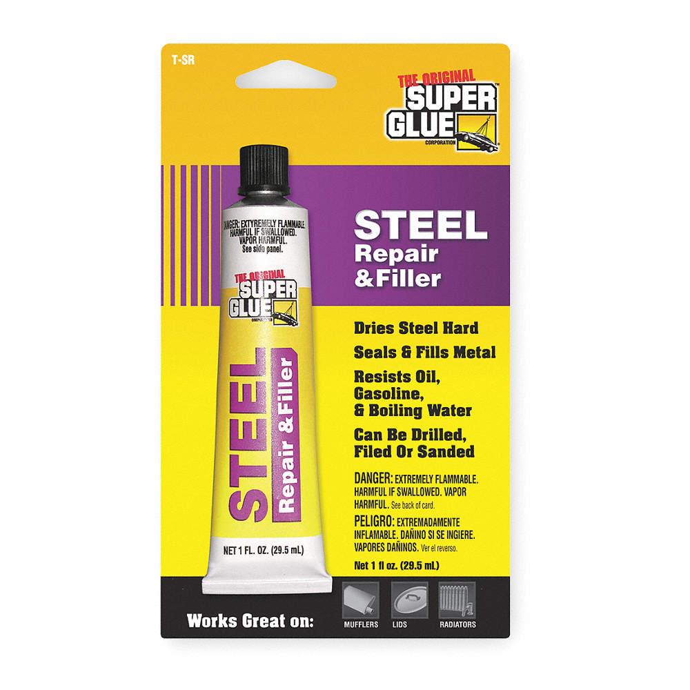 Super Glue For Metal >> Gray 1 Fl Oz Steel Repair And Filler 1 Ea