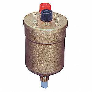 "15/16""  Vent Dia. Brass Automatic Dual Air Vent Valve, 1/8"" Inlet Size"