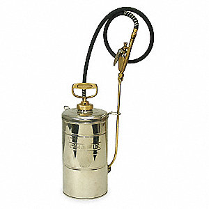 Handheld Sprayer,Stainless Steel,2 gal.