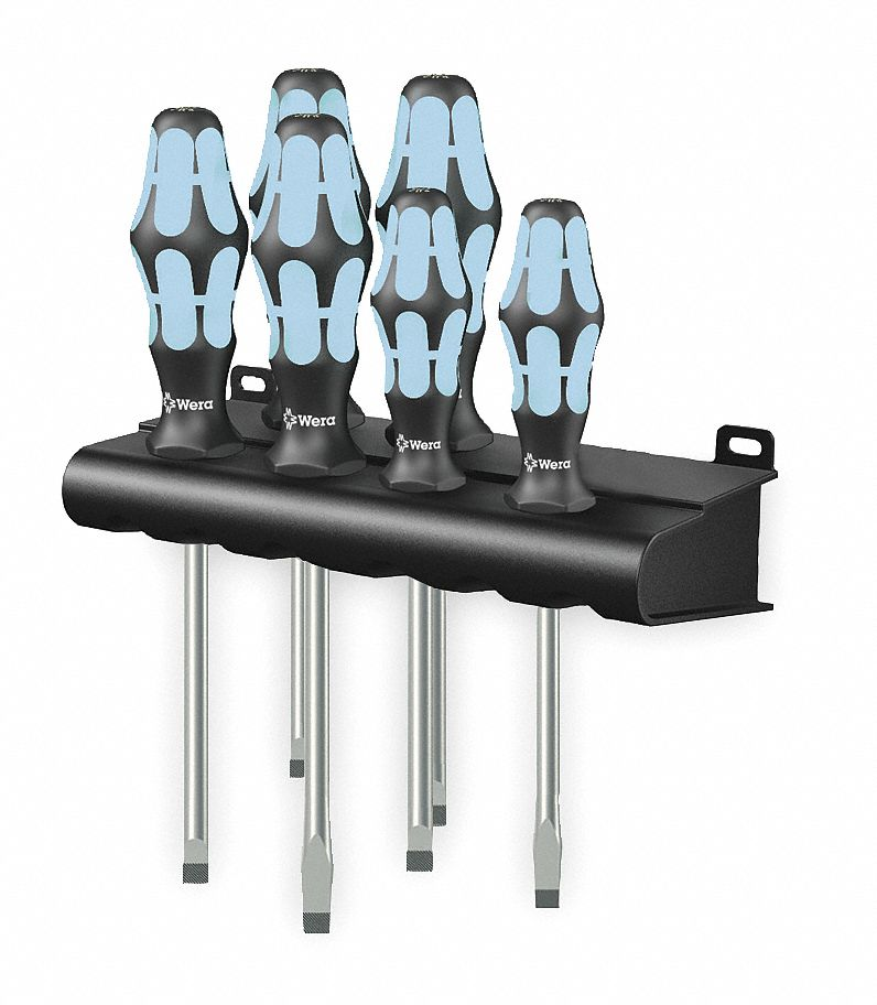 6-Piece Wera 005024410003 Kraftform Plus 977//6 Torx Screwdriver Set and Rack