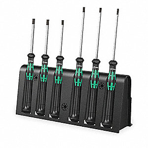 "5-9/16"" Alloy Tool Steel Precision Nut Driver Set, Black/Green&#x3b; Number of Pieces: 6"