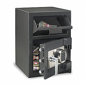 Cash Depository Safe, 1.09 cu. ft., 108 lb., Black