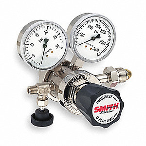 Silverline Series, High Purity Gas Regulator, Two Stage, 0 to 15 psi, CGA-580 Inlet Connection