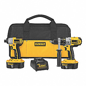 Cordless Combination Kit, Voltage 18.0 NiCd, Number of Tools 2