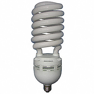 105 Watts  Screw-In CFL, Spiral, Medium Screw (E26), 5800 Lumens 6500K Bulb Color Temp.