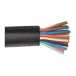 Portable Cord, 16 AWG Wire Size, Number of Conductors: 16, Cut to Length, Order by the Foot Spool Le