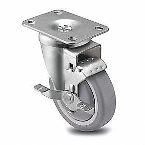 "6"" Plate Caster, 300 lb. Load Rating"