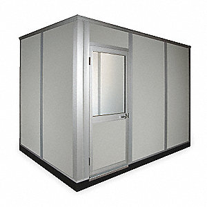 Modular In-Plant Office, 4-Wall, 12 ft. Width, 8 ft. Depth, 8-1/2 ft. Height