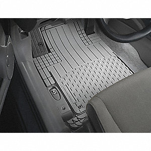 "(Driver) 27 and (Passenger) 28"" x (Driver) 19 and (Passenger) 18"" Front Universal Mat, Gray"