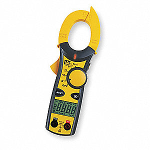 "Clamp On Digital Clamp Meter, 1.5"" (38mm) Jaw Capacity, CAT III 600V"