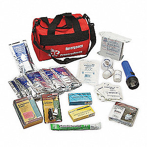 Personal Survival Kit,10 Piece,Red