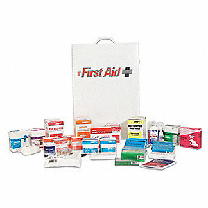First Aid Kit,Bulk,White,20 Pcs,200 Ppl