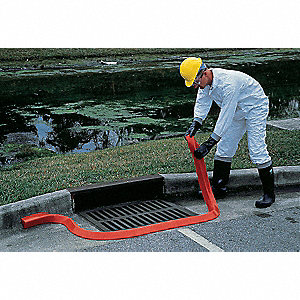 "10 ft. x 4"" x 2-1/4"" Polyurethane Spill Berm, Orange"
