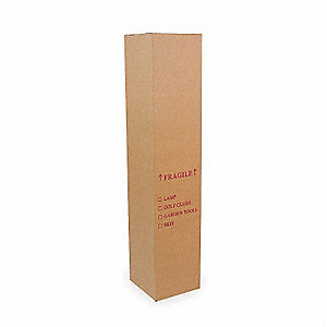 "Multidepth Shipping Carton, Brown, Inside Width 10"", Inside Length 10"", 65 lb., 1 EA"