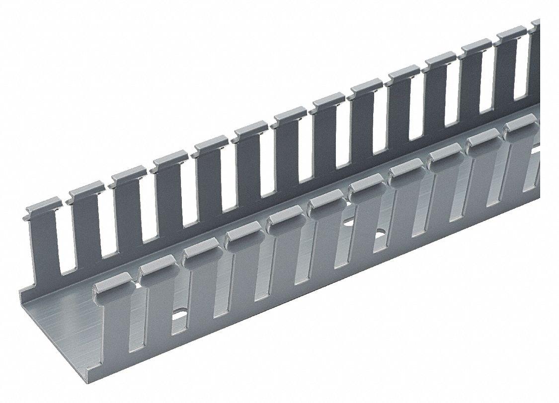 panduit wiring duct gray 6 ft length 1 25 width 0 31 slot rh grainger com Panduit Catalog Panduit Wire