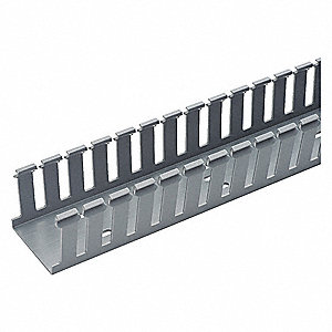 Wire Duct,Wide Slot,Gray,1.75 W x 2.12 D