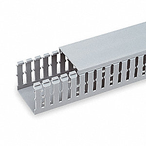 DUCT 1.5X3IN GRAY SLOT