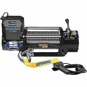 Electric Winch,4-1/2HP,12VDC