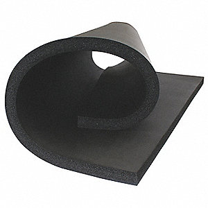 "NBR/PVC Based Elastomeric Insulation Sheet, 36"" x 48"". 1/2"" Thickness, Black"