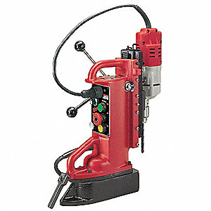 "Magnetic Drill Press, 120VAC, 1/2"" Capacity Steel, 600 No Load RPM"
