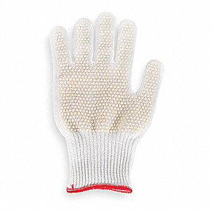 Natural Rubber Latex Cut Resistant Glove, ANSI/ISEA Cut Level 4, Dyneema® Lining, White, XL, EA 1