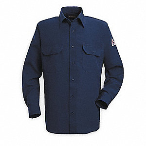 FR Long Sleeve Shirt,Navy,2XL,Button