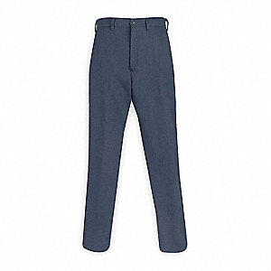 "Navy Pants, Cotton, Fits Waist Size: 32"", 34"" Inseam, 11.2 cal./cm2 ATPV Rating"