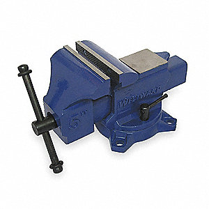 "5"" Ductile Iron Workshop Vise, 2-3/4"" Throat Depth"