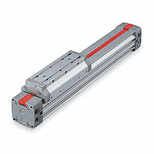 "30.44"" Aluminum Basic Mounted Air Cylinder with 21"" Stroke"