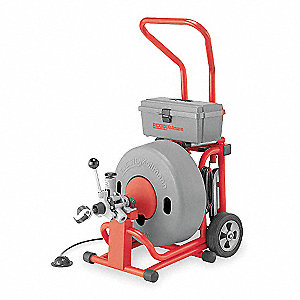 Drain Cleaning Machine, 5/8x100, 4/10 HP