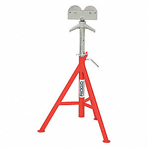 Roller Head Pipe Stand, 1/8 to 12