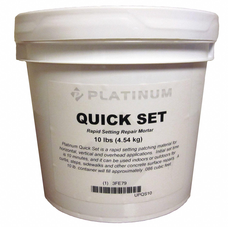 PLATINUM PRODUCTS Quick Set Cement Repair Mix - 3FE79|UPQS10