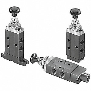 "1/8"" Manual Air Control Valve with 3-Way, 2-Position Air Valve Type"