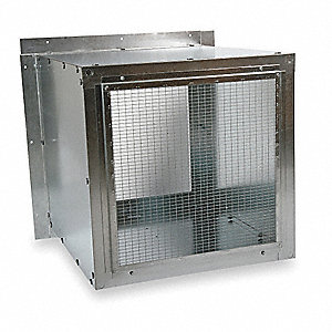 Wall Housing,Galv Steel,For 12 In Fan