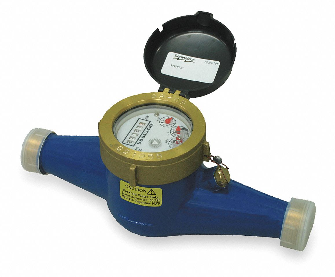 0.22 to 22 gpm Inline Mechanical Flowmeter