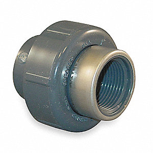 "PVC Union, Socket x FNPT, 1"" Pipe Size - Pipe Fitting"