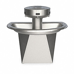 "43-1/2""H 3-Person Shallow Bowl Wash Fountain, Infrared Sensor Operation Type"