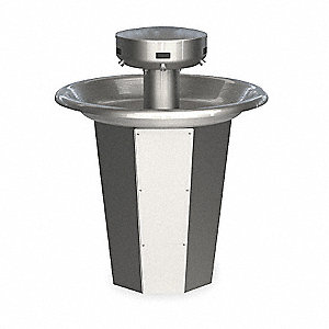 "43""H 5-Person Shallow Bowl Wash Fountain, Infrared Sensor Operation Type"