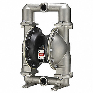 Stainless Steel PTFE Single Double Diaphragm Pump, 172 gpm, 120 psi