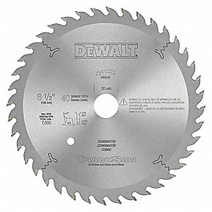 "6-1/2"" Carbide Combination Circular Saw Blade, Number of Teeth: 40"