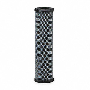 Carbon Filter Cartridge, 5 Microns, Powder Activated Carbon Impregnated Cellulose Filter Media, 5 gp