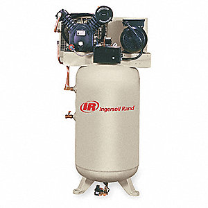 1 Phase Vertical Tank Mounted 7-1/2HP Electric Air Compressor, 80 gal., 175 psi