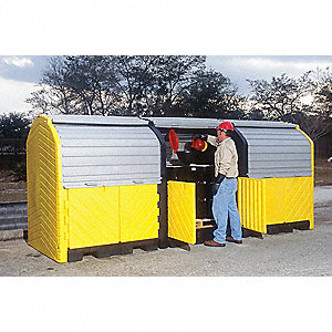 Spill Containment Pallets, Covered, 225 gal. Spill Capacity, 27,000 lb.
