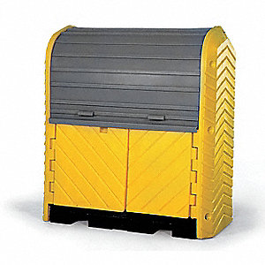 Spill Containment Pallets, Covered, 66 gal. Spill Capacity, 4500 lb.