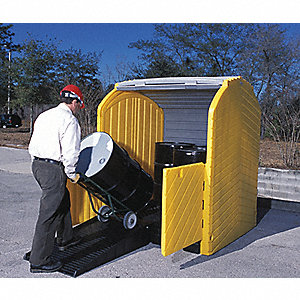 Rolltop Drum Spill Containment,4 Drum