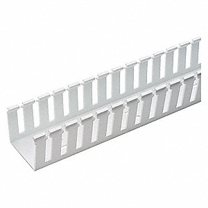 Wire Duct,Wide Slot,White,L 6 Ft
