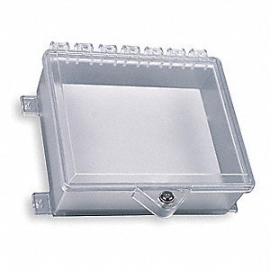 Enclosure w/Lock,Polycarbonate,Surface